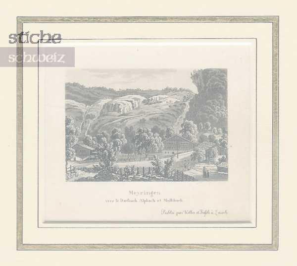 <p>373&nbsp; Meyringen vers le Dorfbach Alpach et Mullibach</p>
