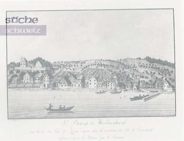 <p>396 , Le Bourgde Wädenswil au Bord du Lac de Zurich</p>
