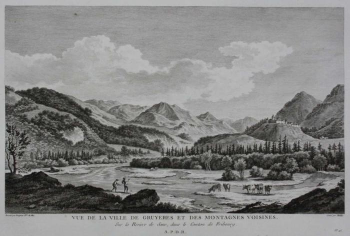 <p>Vue de la ville de Gruyeres et des mantagnes Voisines, 331</p>