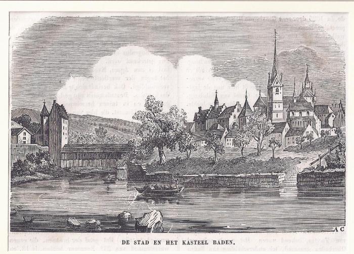 <p>316 * De Stad en het Kasteel Baden</p>