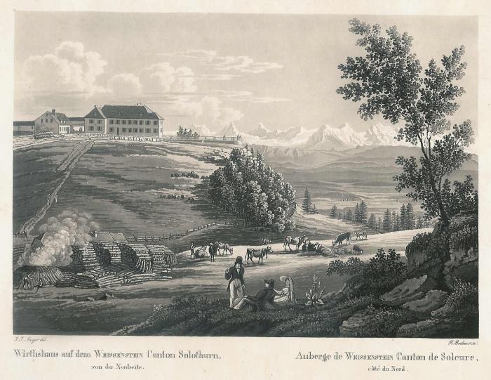 <p>499 Wirtshaus auf dem Weissenstein Von der Nordseite</p>