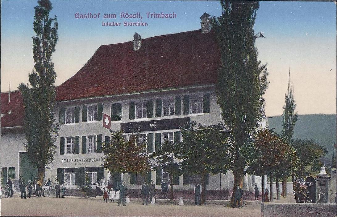 <p>Restaurant Rössli Inhaber Stürchler ,ungelaufen, Top Zustand</p>