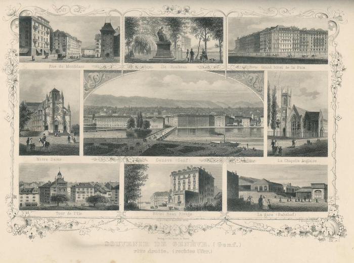 <p>Genf Souvenirblatt: Zentralbild +8 Randbilder , 317.2 Frey , Nr. 5603</p>