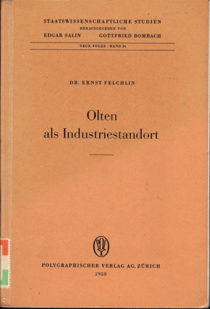 <p><span>Staatswissenschaftliche Studien. Herausgegeben von Edgar Salin u. Gottfried Bombach ,Buch guter Zustand</span></p>