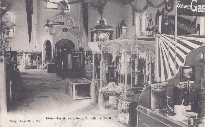 <p>Von Rechts Gasapparatefabrik Solothurn und Seilerei Kurth Solothurn - Karte Top Zustand , 15.9.1906</p>