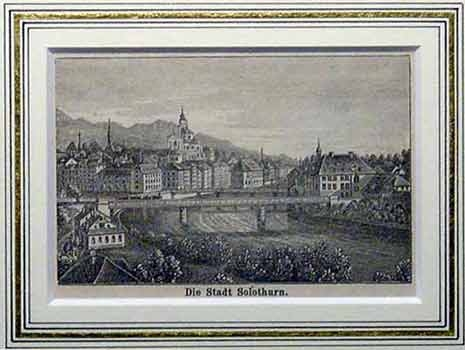 Stad Solothurn mit Rahmen