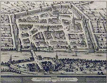 Stadtplan ohne Rahmen
